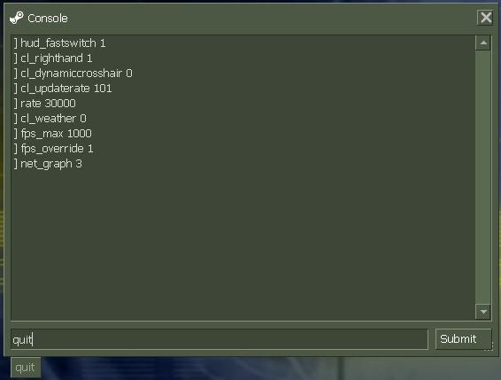 Console CS 1.6